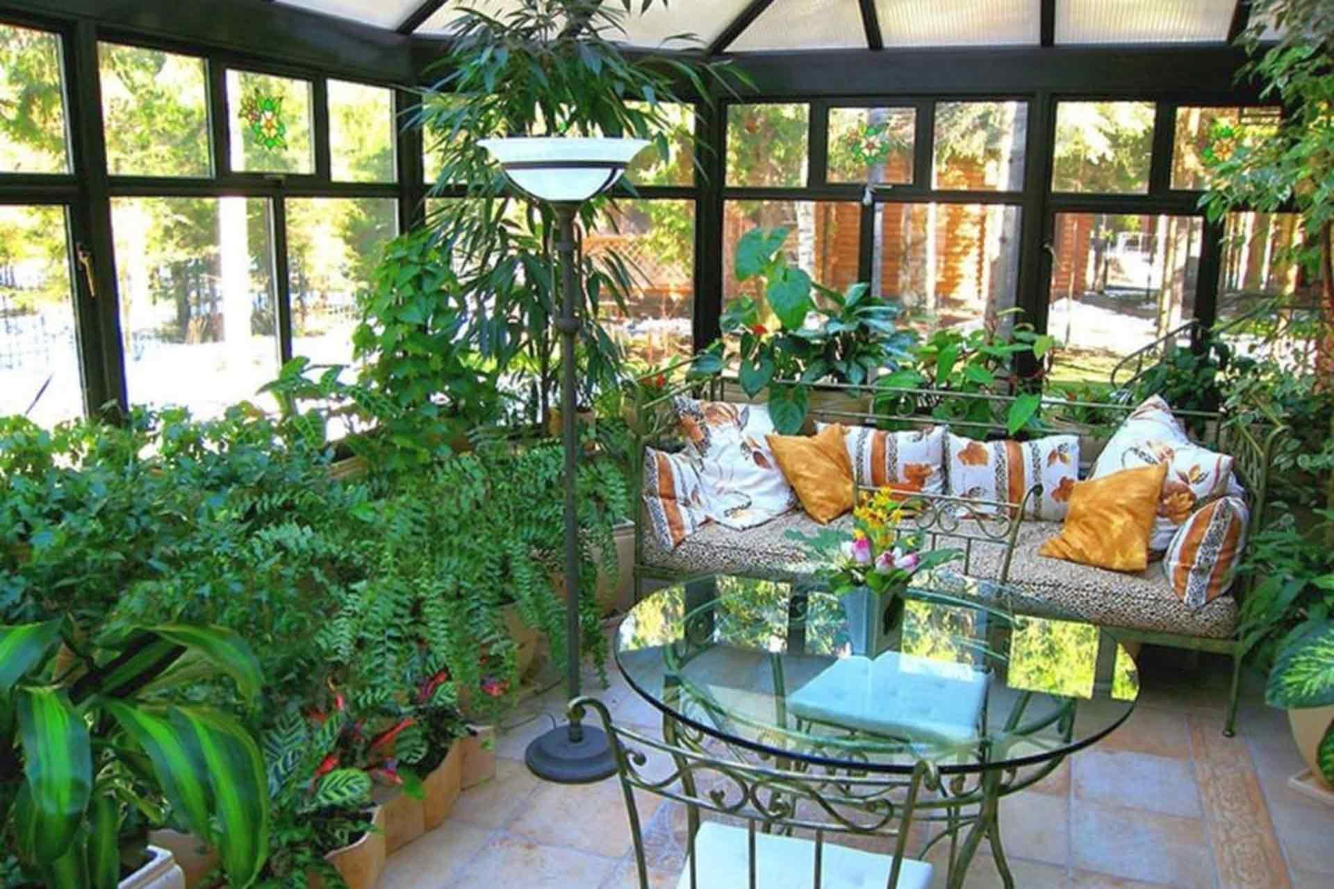 Дизайн и оформление зимнего сада в частном доме своими рукам.